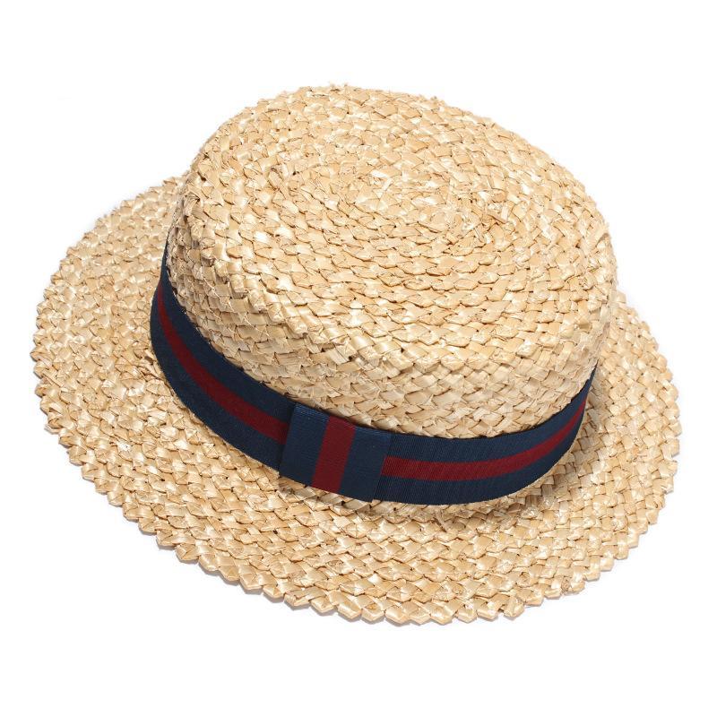 Compre Nueva Moda De Verano Playa Sombrero Para El Sol Mujer Sombreros De Paja  Hechos A Mano Sombrero De Copa Plano Para Niñas Círculo Fringe Aleros  Planos ... bcd8b140871