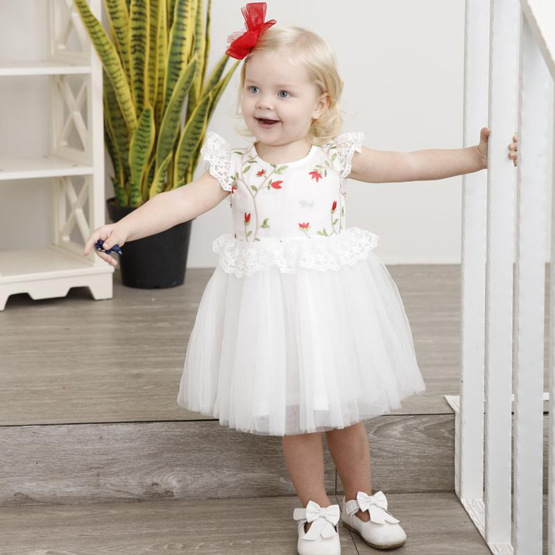 33602da4ec 2019 Summer Infant Little Girl Birthday Party Dresses Embroidery Petal  Sleeve Beautiful Girls Evening Dresses White Princess Dress From Sophine14,  ...