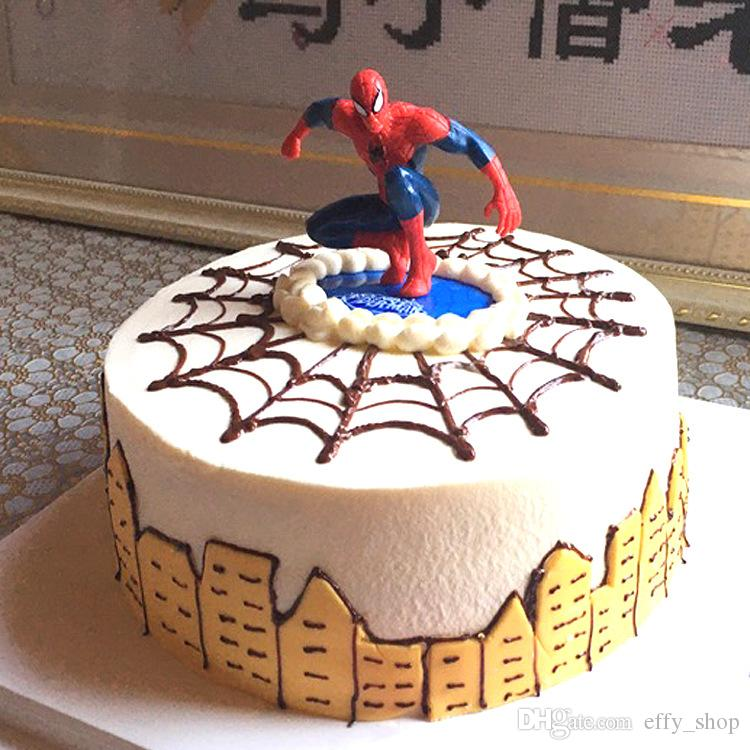 2019 Cartoon Spiderman Cake Hat Boy Party Cupcake Toppers Picks Kids Baby Shower Birthday Decoration Family Supplies From Effy Shop