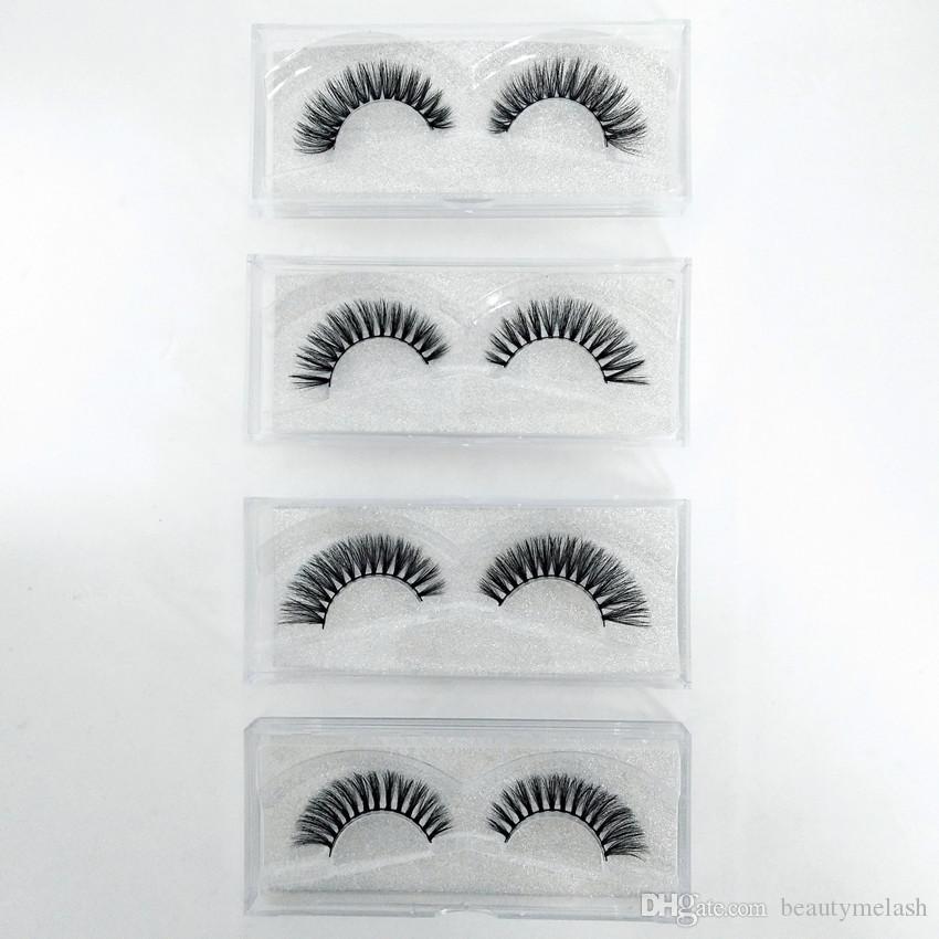 Wholesale- Cocute Beauty Makeup 3D Mink Half Corner Black False Eyelashes Natural Eye Lashes Cosmetics send by ramdon