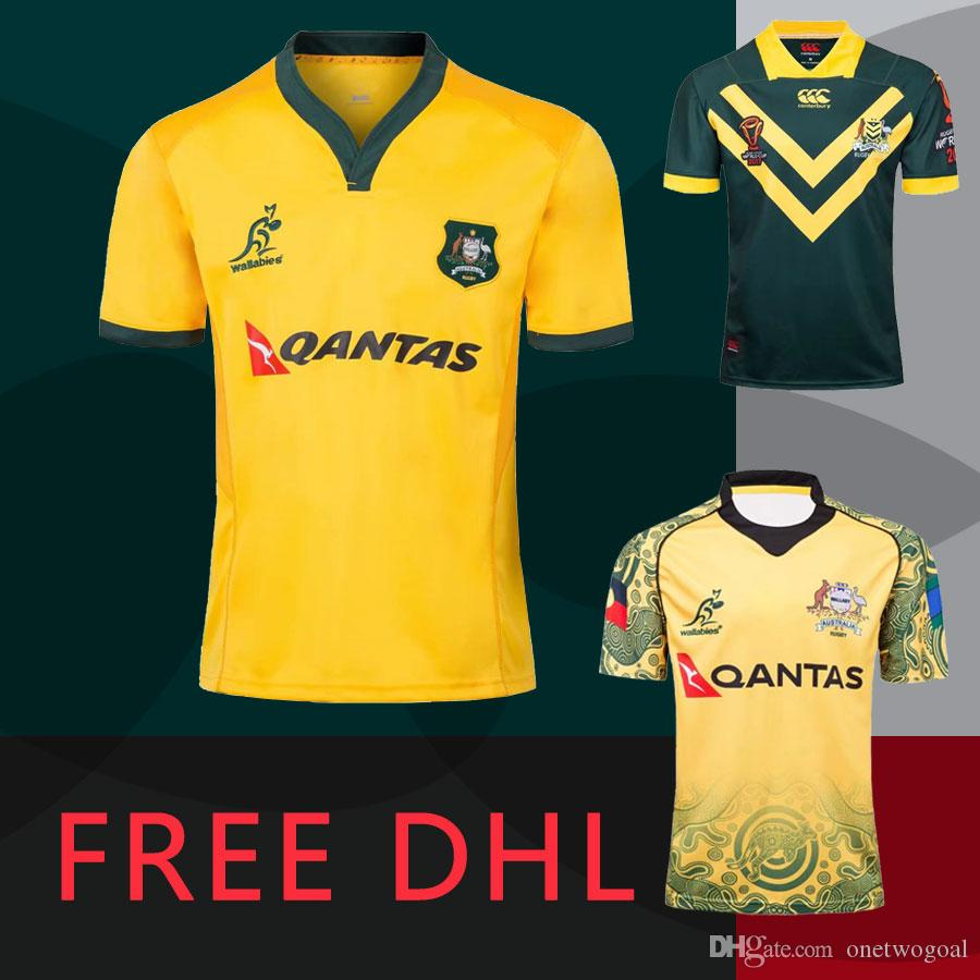 caace8ac84b 6+ PCS Free DHL 2018 national Australia rugby jerseys 2019 rugby world cup  league shirt Australia Limit Commemorative Edition tops jersey