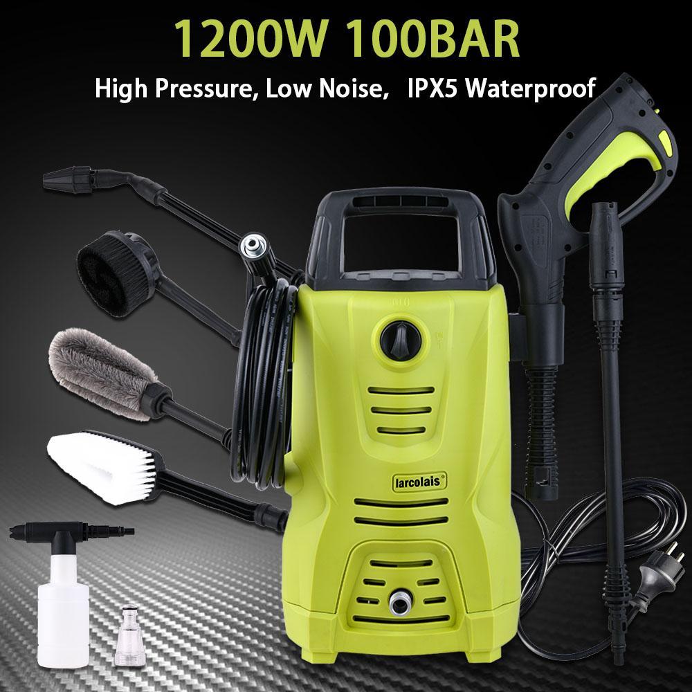 2019 High Pressure Cleaner Car Washer 1200w 100 Bar 1450 Psi Spray