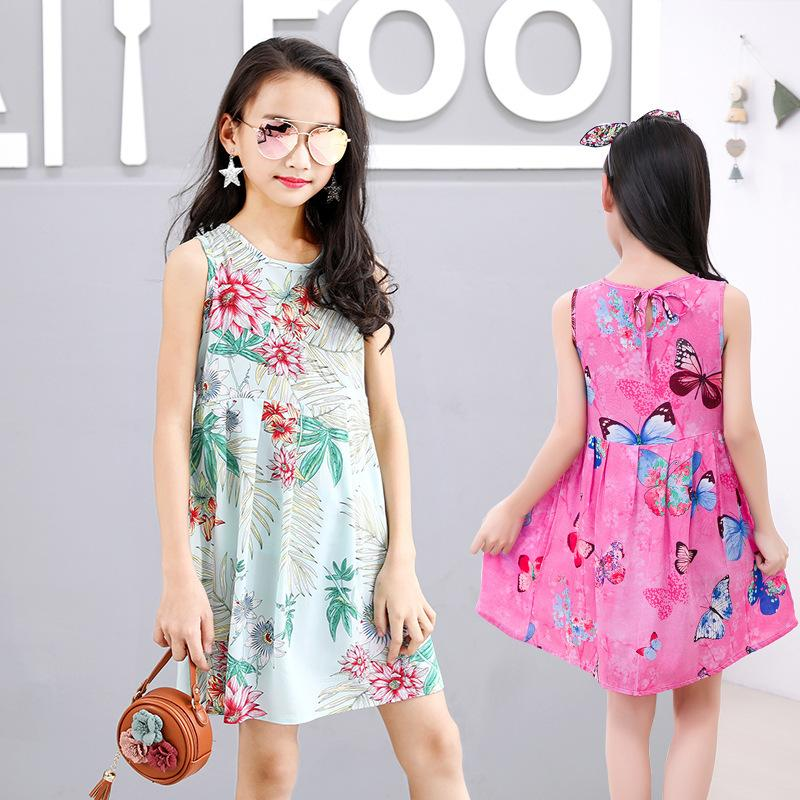 5d6a10e4b Pattern Summer Girl Lace Princess Cinderella Dress Full Cotton Silk ...