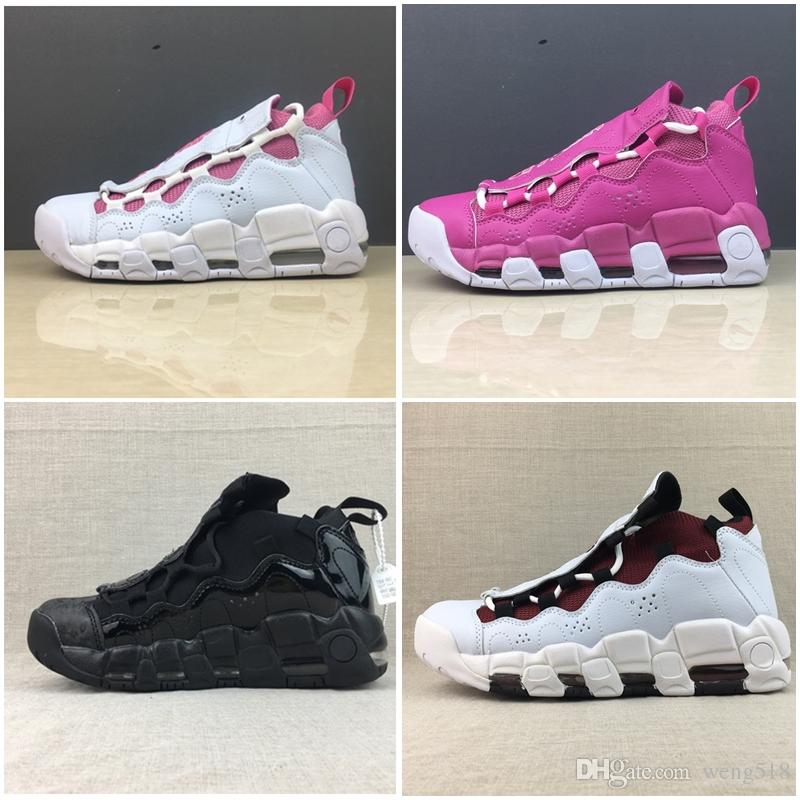 f54dcf41d721 2018 Newest More Money QS Uptempo Basketball Shoes Designers Mens ...