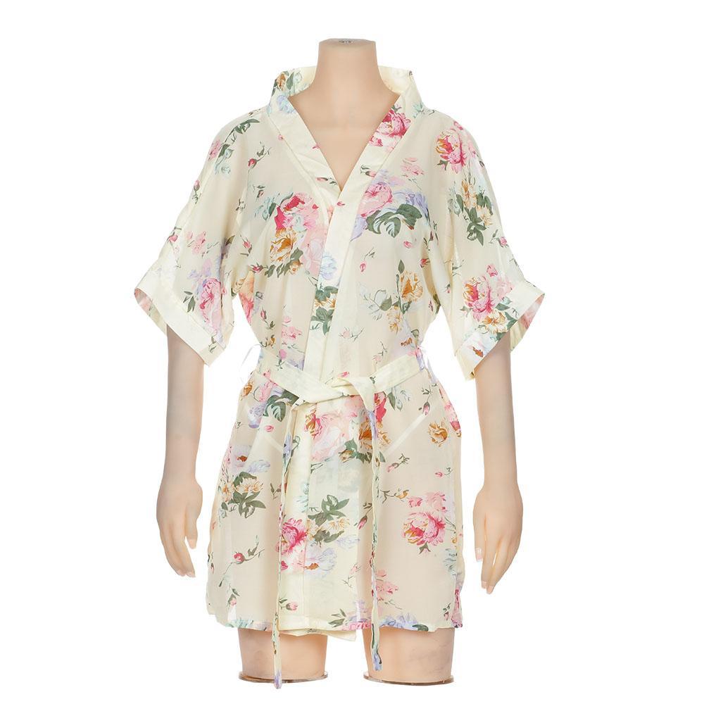 foto ufficiali c2135 b1970 Camicia da notte di seta di seta bianca uniforme del vestito da notte del  pigiameria del chiffon del kimono del pigiameria degli indumenti da notte  ...