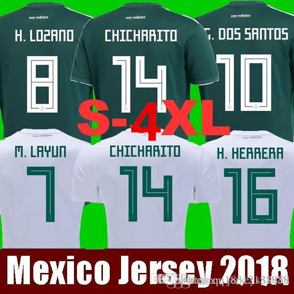 6fe28c4a ... norway 2018 mexico world cup soccer jerseys home away g.dossantos  c.vela 18