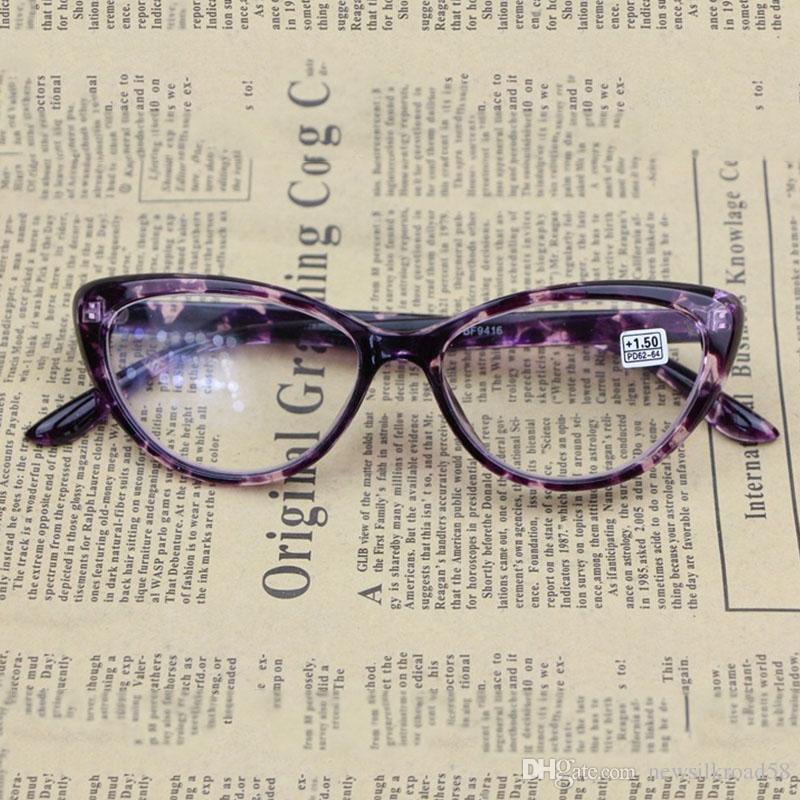 ef91d55fab70 Ultralight Cat Eye Reading Glasses Full Frame Eyeglasses Unisex HD Resin  Lens Glasses Presbyopic Women Men Magnifying Reading Glasses Magnivision  Reading ...