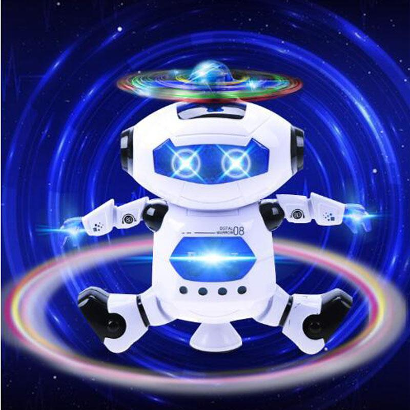 Bright Electric Colorful Light Music Dancing Swing Robot Model Toys Children Kids Educational Toy Birthday Gift Toys & Hobbies