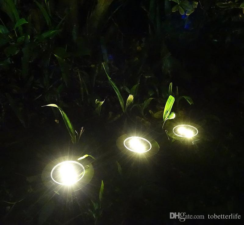 IP65 À Prova D 'Água 2led 4led 8led Solar Ao Ar Livre Lâmpada de Chão Paisagem Grau Quintal Escada Subterrânea Enterrada Luz Da Noite Para Casa Decoração Do Jardim