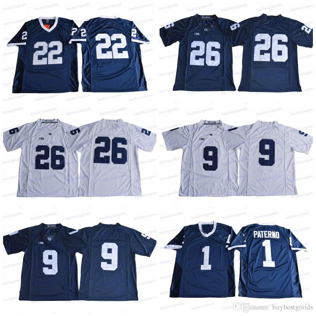 2019 26 Saquon Barkley 9 Trace McSorley 1 Joe Paterno 22 Akeel Lynch BIG  Ten Penn State Nittany Lions NCAA College Football Jerseys Stitched From ... 58f9c5fa8