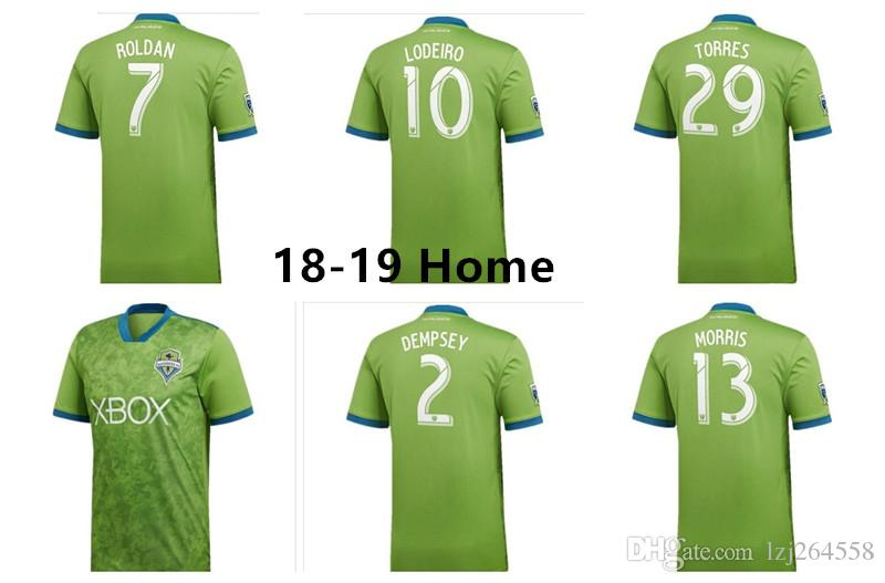 06019fee6cde7 Nuevo Top Seattle Sounders Jersey Fc 2019 Jersey De Fútbol DEMPSEY Football  Shirt 2018 Soccer Uniform MLS MORRIS TORRES Thai Lodeiro Roldan 18 19 Por  ...