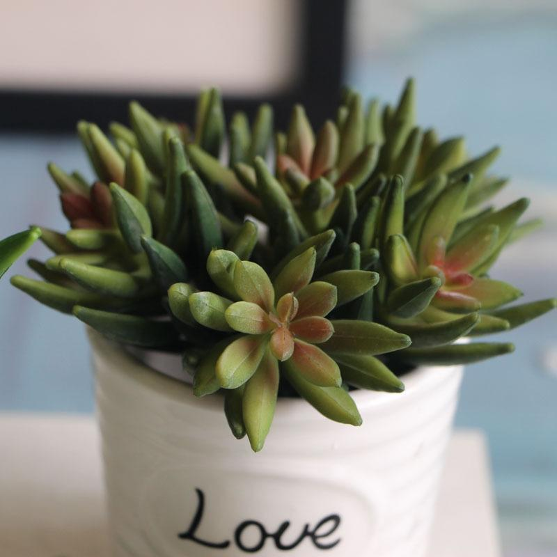 Artificial Flowers Lotus Plants Succulent Grass Desert Artificial Plants Landscape Arrangement Garden Decor