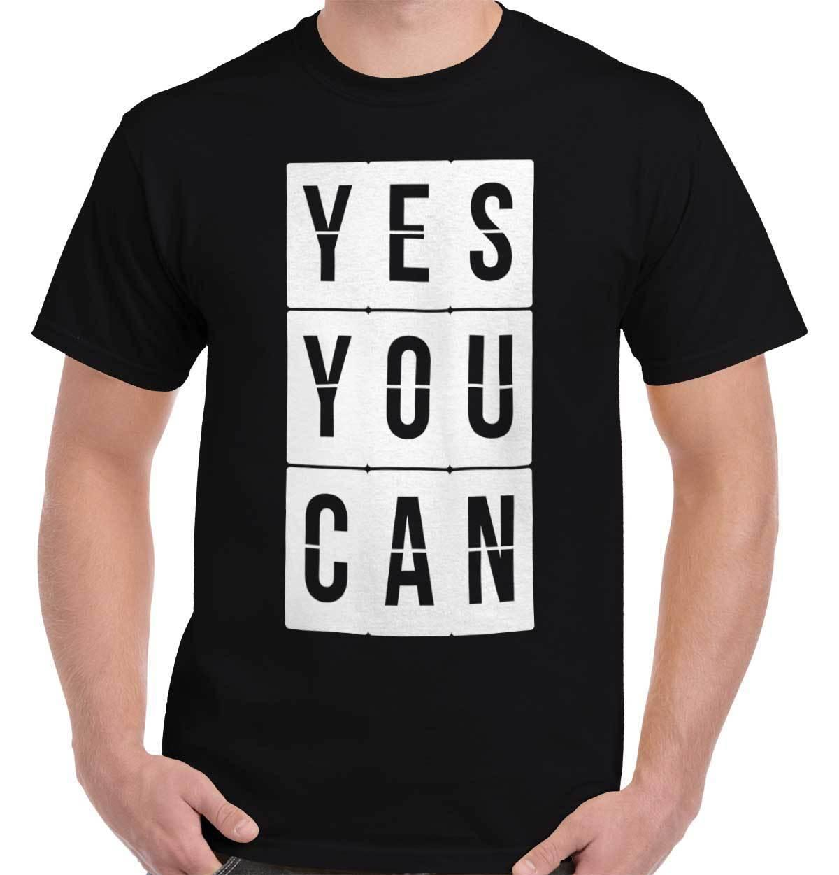 Yes You Can Encouraging T Shirt Tee Inspirational Quote T Shirt Top