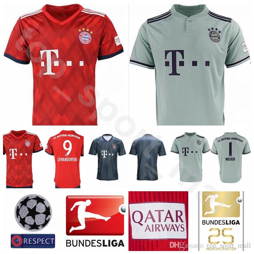 best service 275c8 0d846 Men Soccer Bayern Munchen 18 19 Season 6 Franz Beckenbauer Jersey 15 Gerd  Muller 21 Philipp Lahm 9 ELBER Football Shirt Kit Uniform