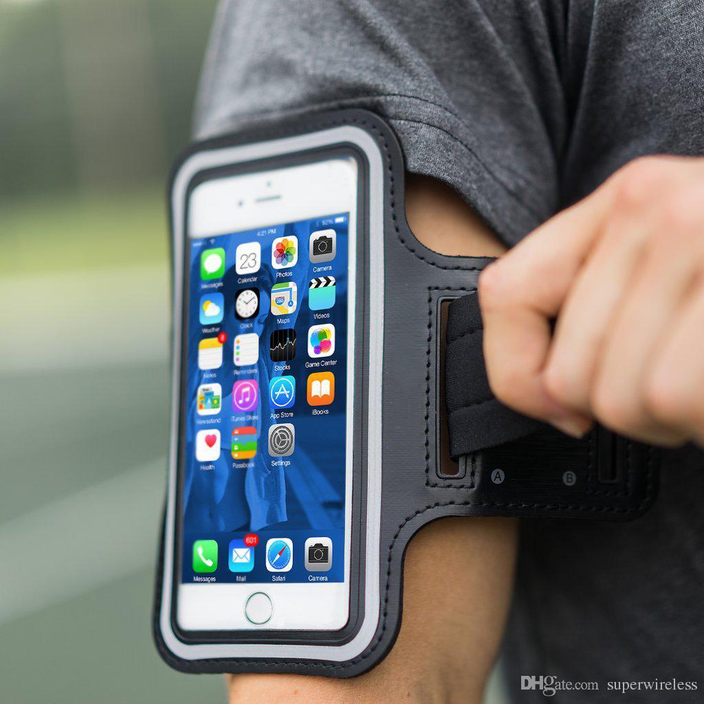 Impermeável Sports corredor da ginástica Armband para iphone Xs Max XR X 8 Samsung s9 s10 mais Armband Telefone Caso Bag