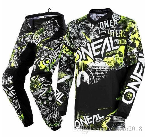 849d470ea 2019 2018 Oneal Element Attack Motocross Jersey   Pants Black Hi Viz Kit MX  Off Road Motocross Suit Racing Jersey Pants S From Clmoto2018