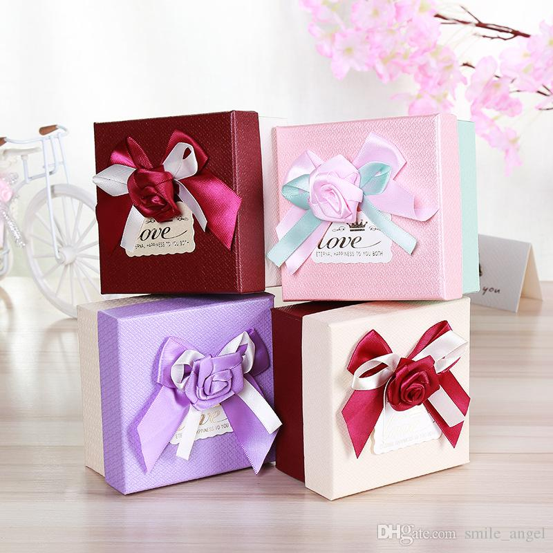 2018 New High End Wedding Favors Box Pretty Candy Boxes Paper Gift
