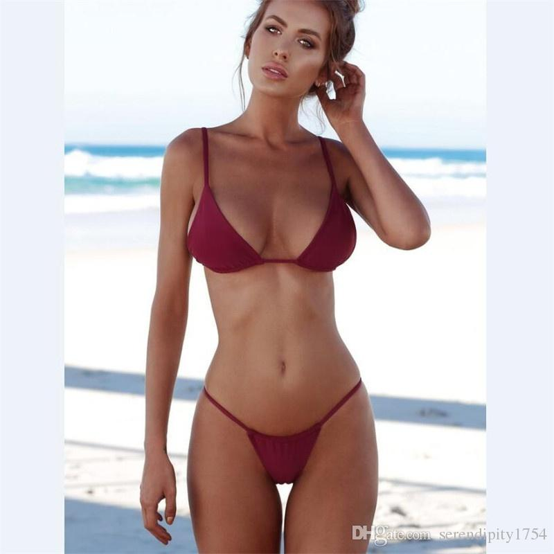 women Swimsuit Bikinis Summer Fashion Swimwears Holiday Thong Bikini Push-up Swimsuits Sexy Swimwear girls Bathing Suits Plus Size Swimwear