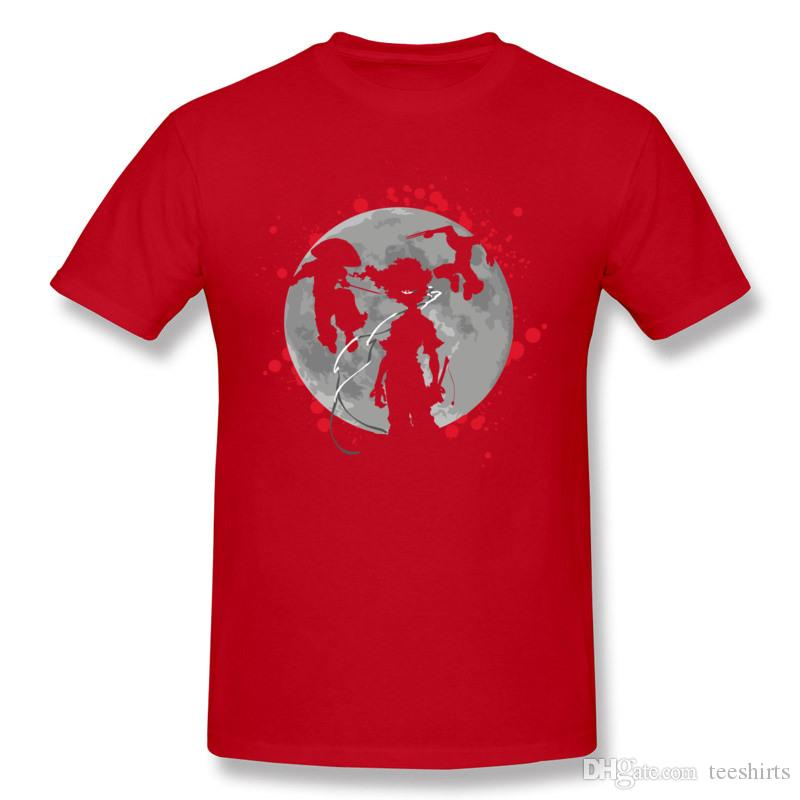 New Coming Hombre 100% Cotton Moon of Revenge Tee-Shirts Hombre Crewneck Beige Short Sleeved Clothing Big Size Custom Tee-Shirts