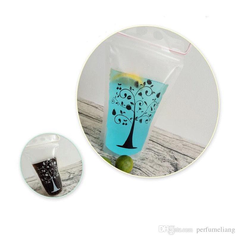 Transparent Self-sealed Plastic Beverage Bag DIY Drinkware Drinking Bag Fruit Juice Food Storage Bag ZA5744