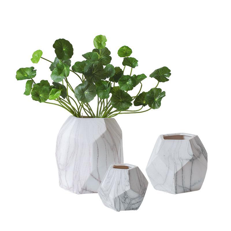 Großhandel Kreative Marmor Textur Keramik Blumen Vasen Büro Desktop ...