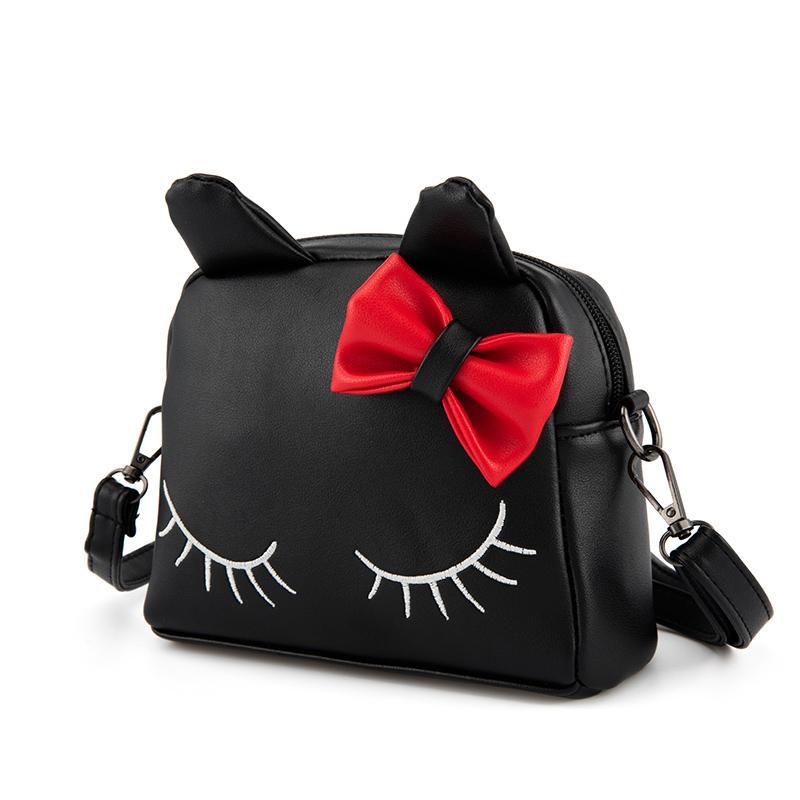 Girl Shoulder Bag PU Leather Zipper Cute Cat Bow Handbag Kids Casual Messenger  Bags Best Sale WT External Frame Backpack Backpacks Bags From Breadfruiter 81e2e79268b6d