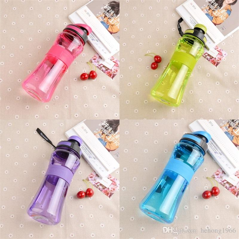 Sports Bottles Water Hand Cups Transparent Leak Proof Space Cup Bottle Outdoors Colorful Plastic Bodybuilding Creative 7 6wz V