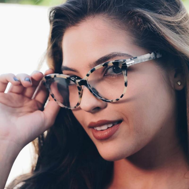 7a9df46cc98 HUITUO Brand Design Literary Retro Women Cat Eye Eyeglasses UV400 ...