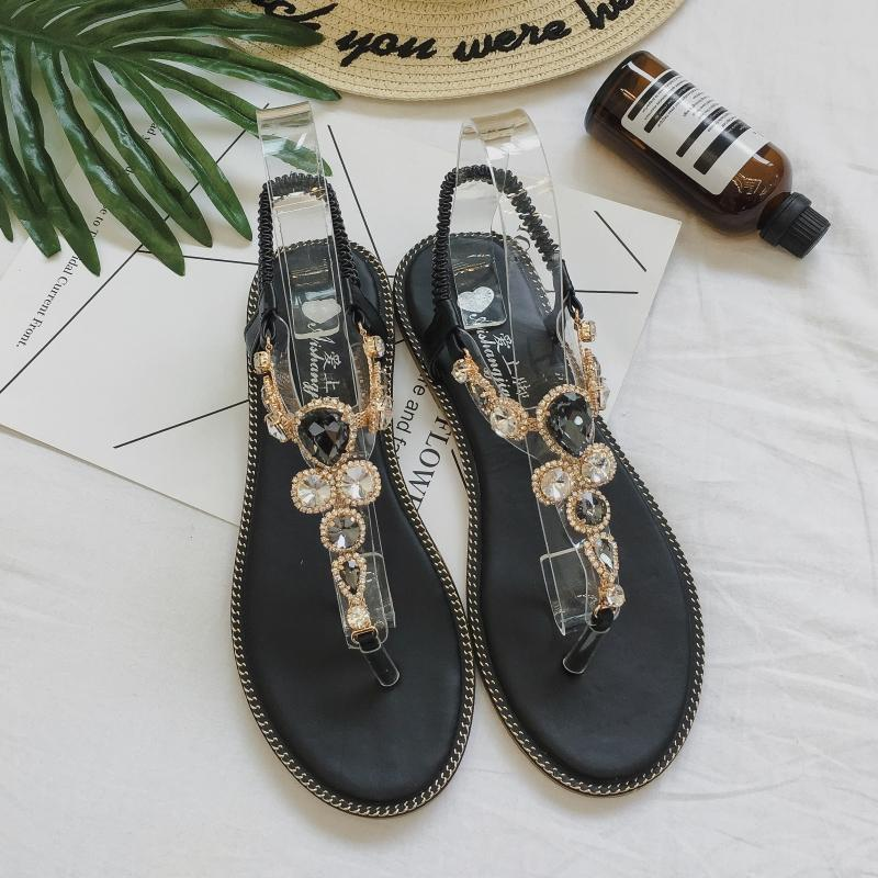 e9c8d224f0e40 2019 Moxxy Women Slides 2018 Fashion Slippers Platform Sandals Summer Bling  Beach Slides Flip Flops Comfortable Flat Shoes Chaussure From China smoke