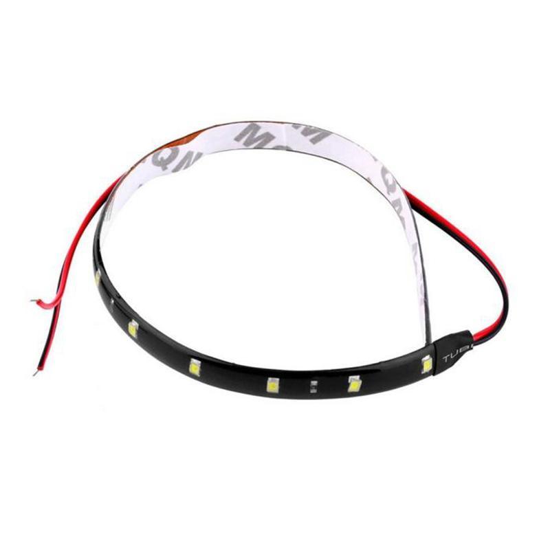 30cm 12v 15 Led Car Auto Motorcycle Waterproof Strip Lamp Flexible Light 11010