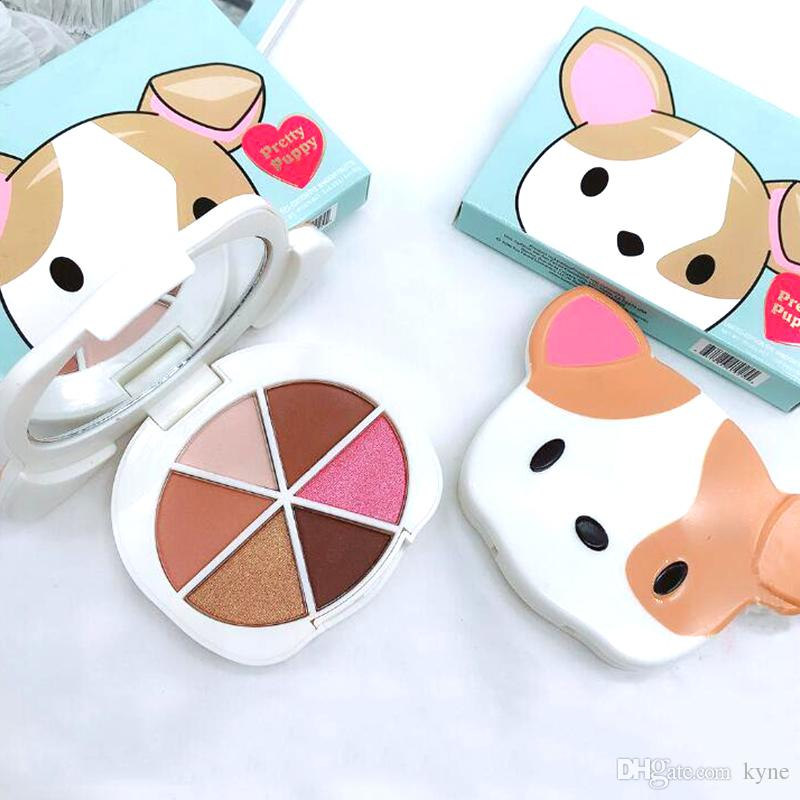 2018 Makeup Palette Pretty Puppy 6 color eyeshadow palette Eye cosmetics Faced palette DHLl shipping