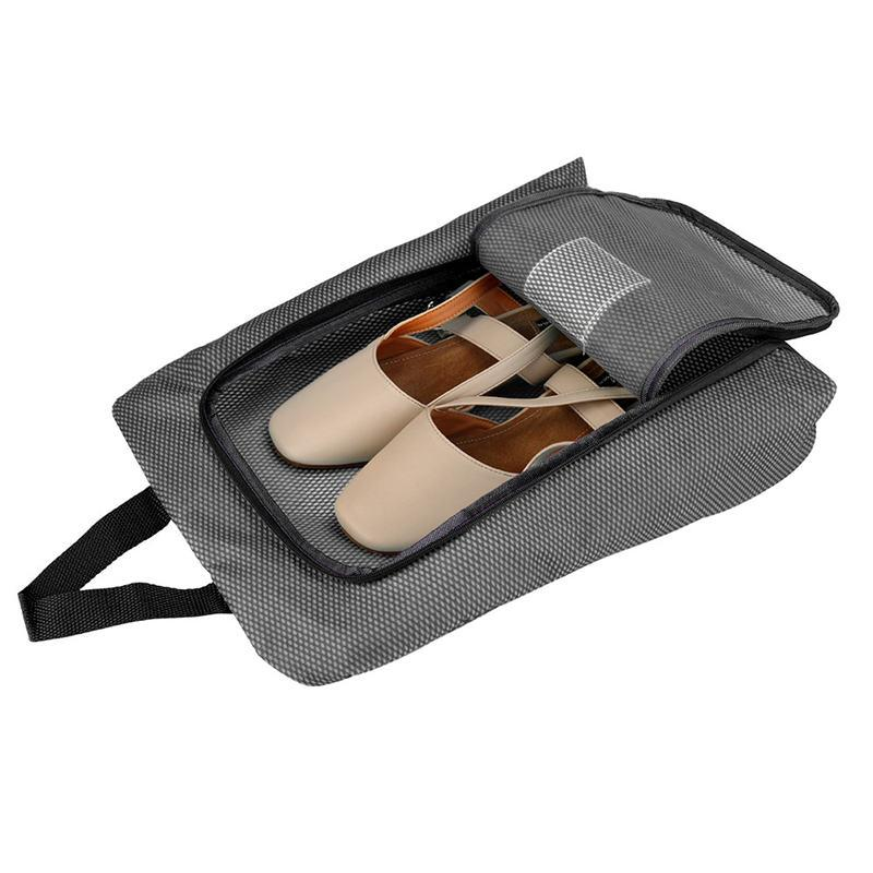 Storage Bags New Travel Shoes Bag Travel Portable Shoes Tote Dry Shoes Organizer Underwear Clothes Laundry Case Pouch With Breathable Mesh