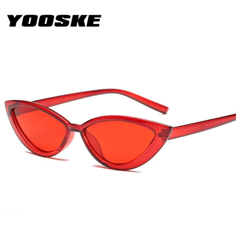 99b4bf16db9 YOOSKE Transparent Sunglasses Women Cat Eye Style Shades 2018 Fashion  Yellow Red Sun Glasses Clear Frame Trendy Female Sunglass Sports Sunglasses  Cheap ...