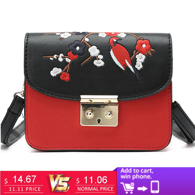 ce23f1c6e389 2019 Fashion UKQLING Small Bags Handbags Women Famous Brands Women  Messenger Bags Belt Flap Embroidery Purse Handbag Designer Sac A Main  Branded Bags ...