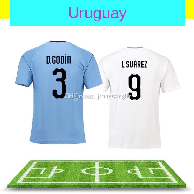 387337660 2019 Soccer New 2018 World Cup Uruguay Jerseys L.Suarez E.Cavani D.Godin  C.Stuani Jmgimenez C. Rodriguez M.Vecino Thailand Quality Home Jersey From  ...