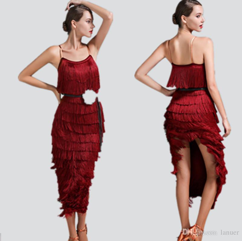 Dance Salsa Latin Tango Großhandel Erwachsene Chacha Kleid Mädchen QotshCrdBx