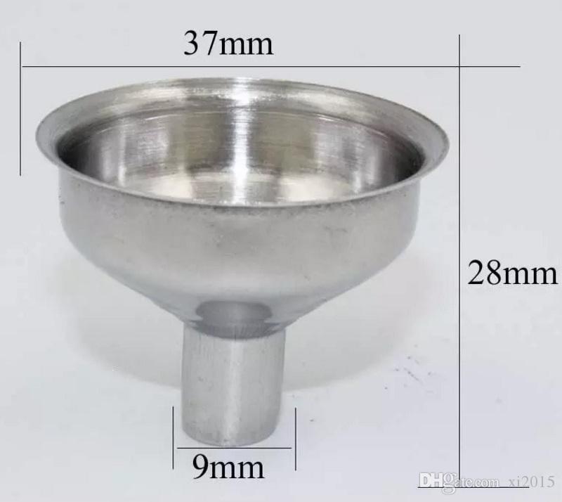 37x28 ملليمتر 304 المقاوم للصدأ قمع صغير ل الخمور الكحول ويسكي الورك قوارير الضروري النفط العطور ملء نقل wen6748