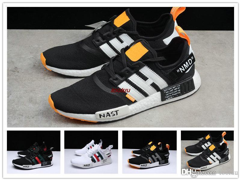 0356ade766453a 2018 Newest NMD Runner R1 Primeknit Sneakers Best Quality Off New Men And  Women Running Shoes Triple White Black Casual Sport Shoes Trainers Nmd R2  Nmd Xr1 ...