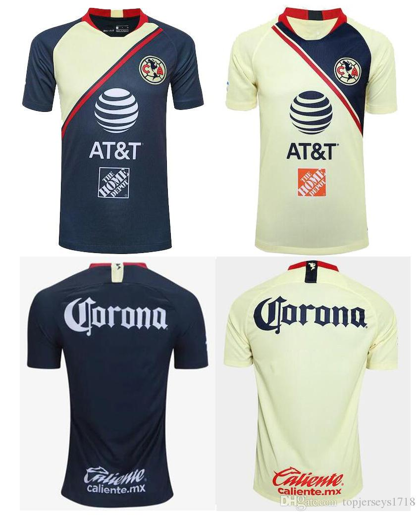 947afde85 New 2018-19 Club America Home soccer Jersey Short sleeve LIGA MX patch T  shirt