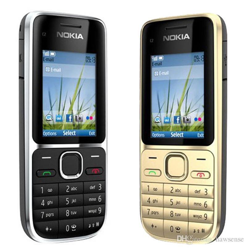 Refurbished Original Nokia C2-01 Unlocked 2.0 inch Screen Bar Mobile Phone GSM WCDMA 3G 3.2MP Camera FM MP3 MP4 Cell Phone Free Post 1pcs