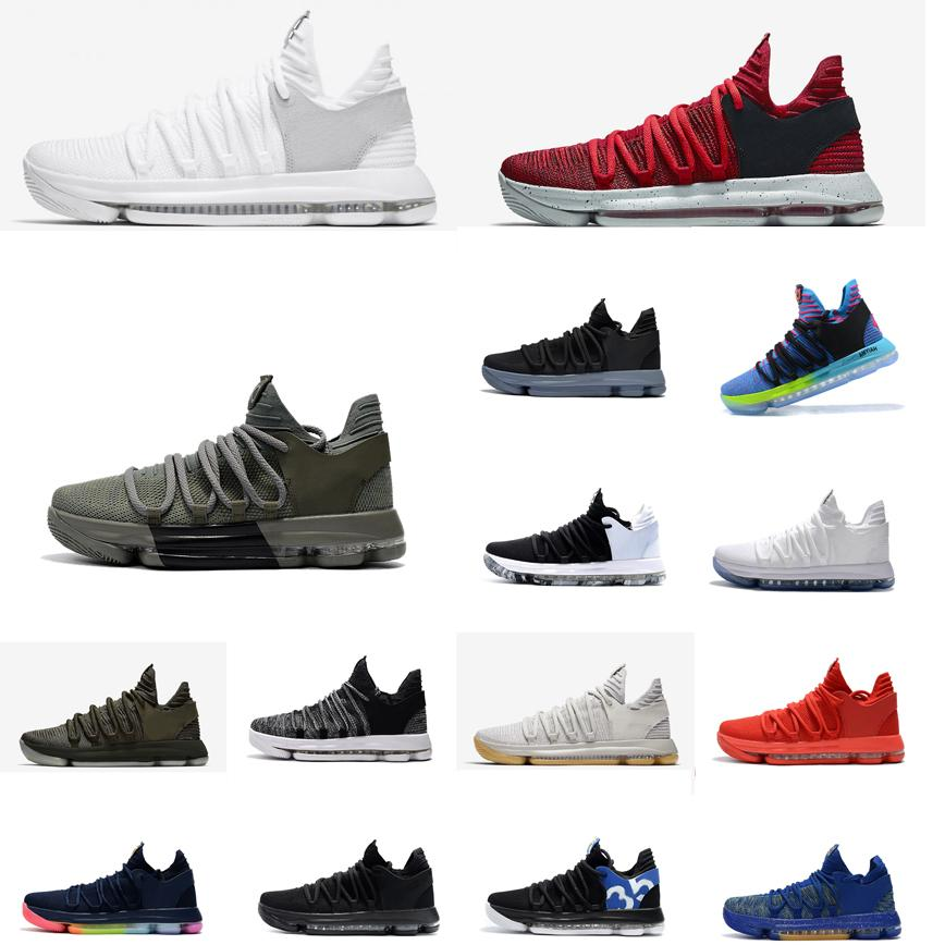 2019 Cheap Men KD 10 X Low Tops Basketball Shoes Bhm Red White Grey Black  Gold Rose Christmas Kevin Durant KD10 Air Flights Sneakers Kds For Sale  From ... 281b490d17