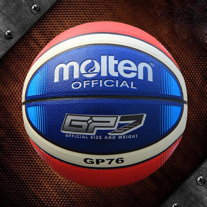 Bola de baloncesto fundida al por mayor GP76 Material de PU fundido de alta calidad Oficial Size7 Baloncesto para juego de partido Envío gratis