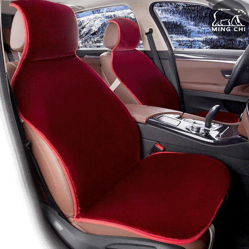 Faux Fur Universal Black Covers For Car Seat &Nbsp;High Quality Car