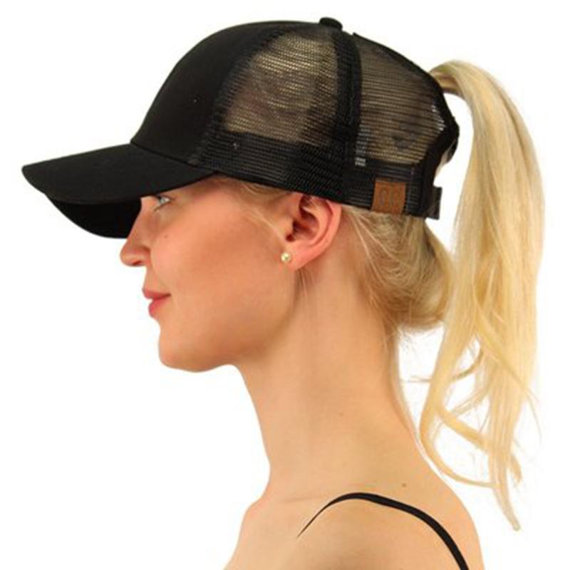 2e99f9f2 Dropshipping C.C Ponytail Baseball Cap Women's Cap Messy Bun Adjustable  Sport Snapback Hats Fashion Outdoor Sports Snapback