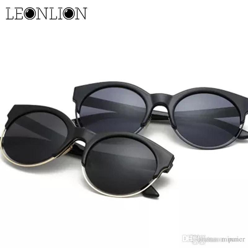 5222c8532a2f LeonLion 2017 Semi Rimless Sunglasses Women Brand Designer Cat Eye Sun Glasses  Men Retro Round Circle Glasses Feminina Fastrack Sunglasses Smith Sunglasses  ...