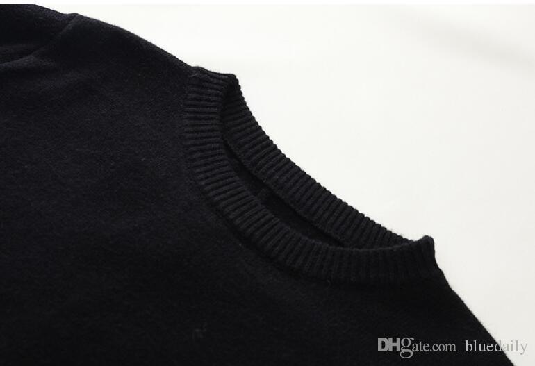 Blusas de designer preto para homens moda carta de manga longa impressão casal blusas outono blusas de pulôver solto para as mulheres frete grátis