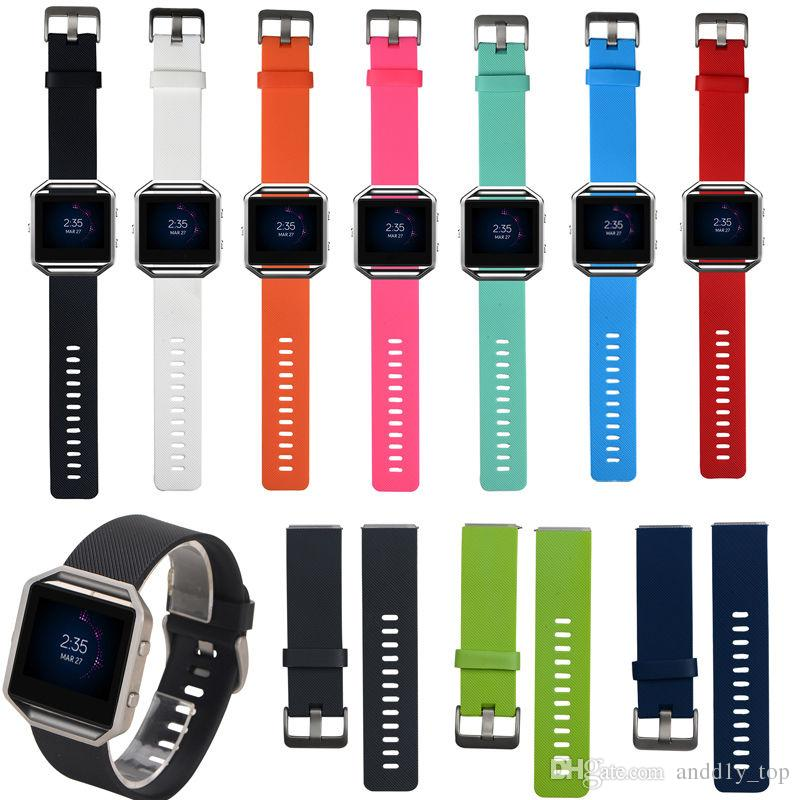 Replacement strap for Fitbit Blaze bracelet New High Quality S/L Size Soft Silicone Watch Band Wrist Strap Smart Watch