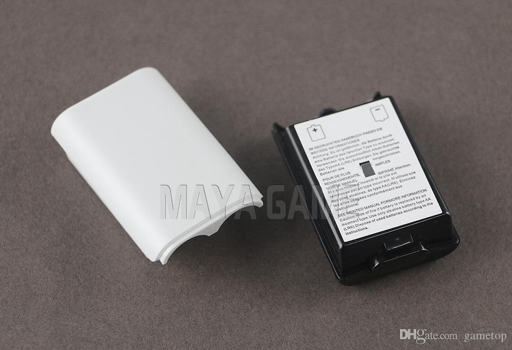 XBOX360 / Xbox 360 무선 컨트롤러 교체 부품 용 검정색 흰색 배터리 팩 커버 셸 실드 케이스 키트