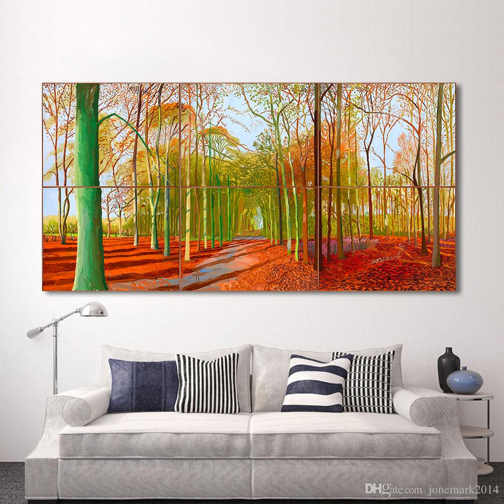 1 Pcs Canvas Art Wall Pictures For Living Room Forest Tree Painting Woldgate Woods Cuadros Decoracion Home Decor Printed Frameless