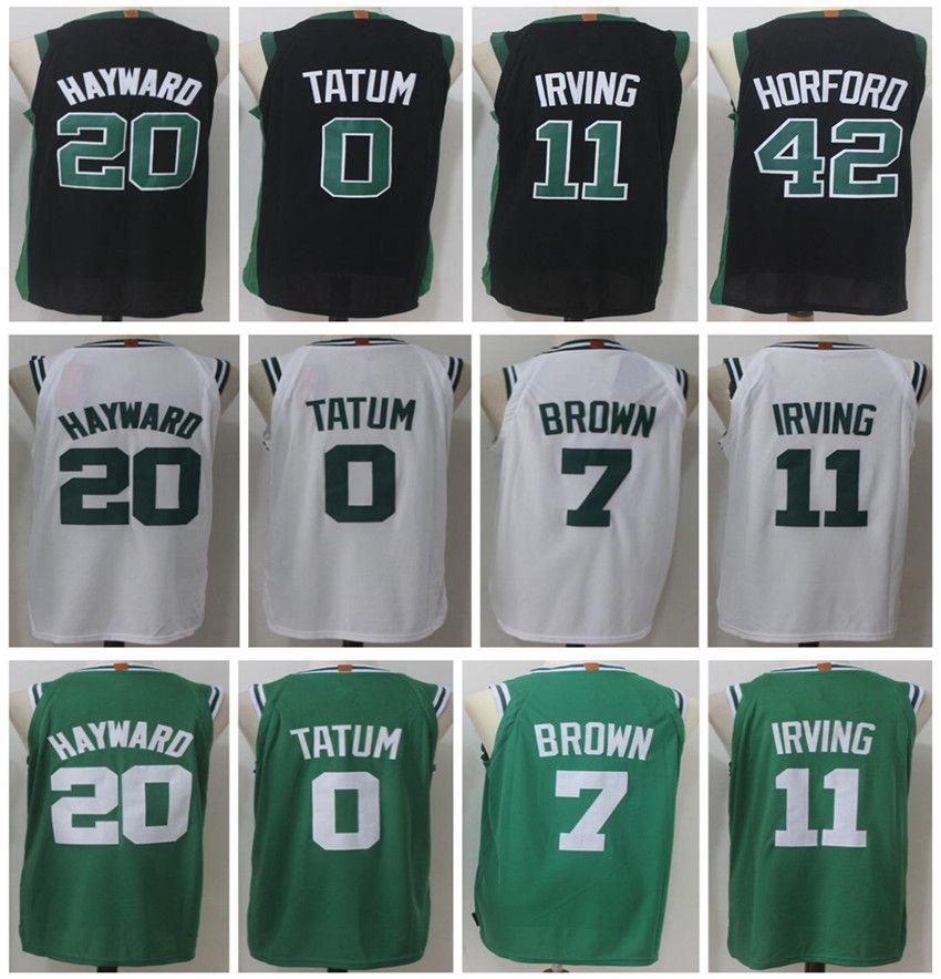 b63bf8b84 Men s Basketball Jerseys 2018 New 11 Kyrie Irving 0 Jayson Tatum 20 ...